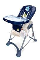 Krzesełko do karmienia Baby Maxi DUŻE- granatowe