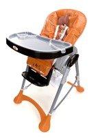 Krzesełko do karmienia Baby Maxi DUŻE- pomarańczowe