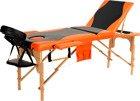 Łóżko do masażu 3 segmentowe dwukolorowe czarno - pomarańczowe