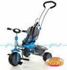 Rowerek trójkołowy MUDI BIKE niebieski oparcie z materiału