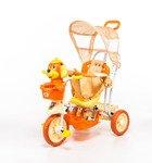 Rowerek trójkołowy dla dzieci piesek pomarańczowy