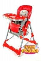 Składane krzesełko do karmienia 202 czerwone
