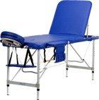 Stół, łóżko aluminiowe 3 segmentowe do masażu Niebieskie