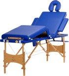 Stół, łóżko do masażu 4 segmentowe niebieskie