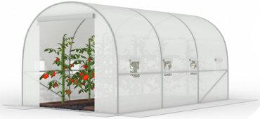 Tunel foliowy Biały z oknami - 10m2 = 400*250*200