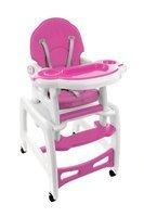 Krzesełko do karmienia 5w1 + stolik BABYMAXI - RÓŻOWE