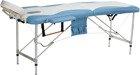 Łóżko do masażu 2 segmentowe aluminiowe dwukolorowe