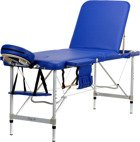 Stół, łóżko do masażu 3 segmentowe aluminiowe Niebieskie