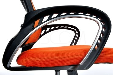 Fotel Biurowy LUCAROS - pomarańczowy