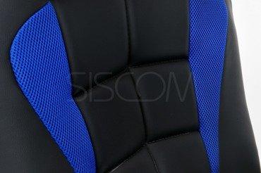 Fotel biurowy Sport czarno-niebieski