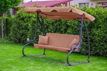 """Huśtawka ogrodowa """"Relax Plus"""" Brązowa"""
