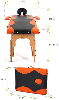 Łóżko do masażu 2 segmentowe dwukolorowe