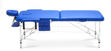 Stół, łóżko do masażu Aluminiowe 2 segmentowe niebieskie XXL