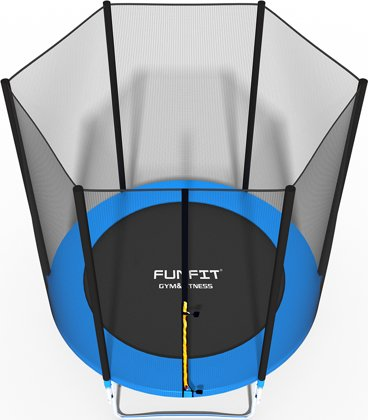Trampolina ogrodowa dla dzieci 183cm FUNFIT z siatką zewnętrzną