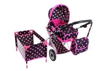 Wózek dla lalek + łóżeczko
