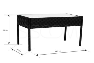 Zestaw Technorattan - 2 Fotele + Sofa + Stół